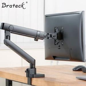 Brateck液晶电脑显示器支架 桌面万向旋转升降大屏支架臂 单显示屏底座多功能增高架17-32英寸 E51239元