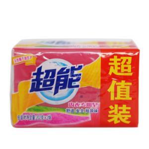 超能内衣专用皂/洗衣皂202g*2块肥皂(新老包装随机发货)7.8元