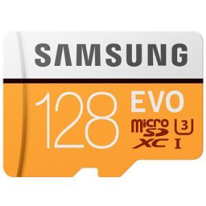 SAMSUNG三星存储卡EVO黄色升级版高速TF卡(MicroSD卡)128GB 87元包邮