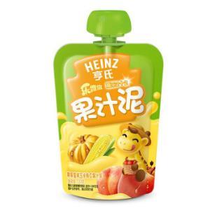 Heinz 亨氏 乐维滋 果汁泥 120g 苹果蜜桃玉米南瓜味 *28件 112.4元(合4.01元/件)