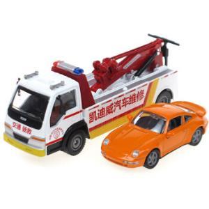 凯迪威工程汽车模型1:50道路清障车救援施救拯救车汽车拖车(带声光)*5件 170元(合34元/件)