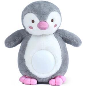 贝恩施(beiens)小企鹅安抚益智玩具宝宝音乐早教玩偶婴幼儿助眠机蓝牙充电WW01小象灰*3件198元(合66元/件)