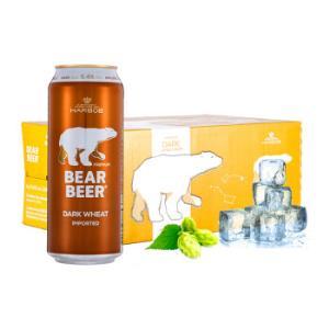 HARBOE 哈尔博 熊牌小麦黑啤酒 500ml*24听 *2件132.4元包邮(双重优惠)