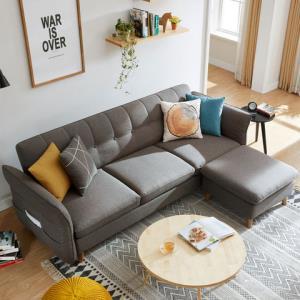 林氏木业1012北欧简约现代沙发床三人位 999元