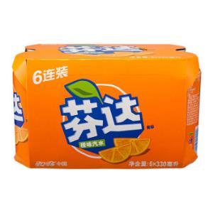 Fanta芬达橙味汽水330ml*6罐