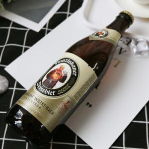 德国进口啤酒Franziskaner范佳乐/教士白啤黑啤小麦精酿啤酒礼盒装 3白+3黑混装500ml*6瓶 *3件202元(合67.33元/件)