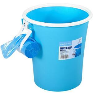 茶花垃圾桶纸篓圆形夹袋废纸筒8L1520*5件69.5元(合13.9元/件)
