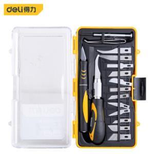 得力(deli) 专业级手工美工刀雕刻刀雕刻笔木工刀组套16件套 DL-DP135元