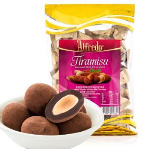 马来西亚进口 Alfredo 爱芙 提拉米苏味巴旦木牛奶巧克力制品 休闲零食250g/袋 *6件129.1元(合21.52元/件)