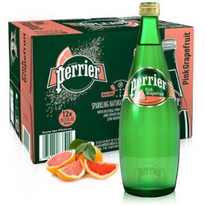 Perrier巴黎水西柚味气泡水天然矿泉水750ml*12瓶整箱装*3件259.2元(合86.4元/件)
