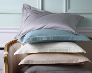 LENCIER兰叙北欧60支全棉贡缎纯色枕套一对装74*48cm*3件 144.9元(合48.3元/件)