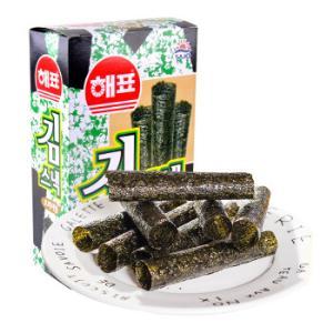 泰国进口 休闲零食海苔脆紫菜 海鲜味 海牌卷海苔(原味)14.4g *14件129.2元(合9.23元/件)