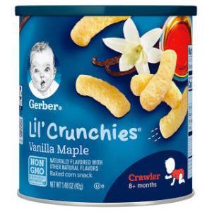 嘉宝(Gerber) 婴幼儿手指泡芙 42g 枫糖香草味 *16件 (合8.64元/件)
