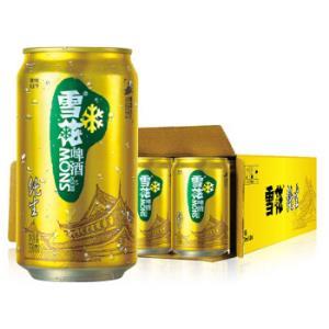 雪花啤酒(Snowbeer)8度纯生 330ml*24听 整箱装99元