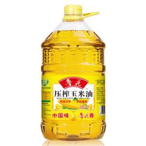 鲁花 非转基因 压榨玉米油 6.18L *2件+凑单品 144.44元(合72.22元/件)