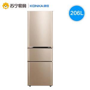 KONKA 康佳 BCD-206GX3S 206升 三门冰箱1099元