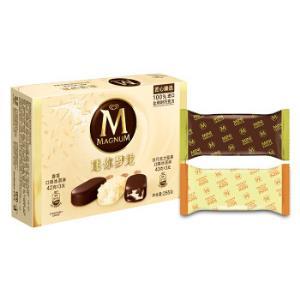 和路雪迷你梦龙香草口味+白巧克力坚果口味6支 19.96元