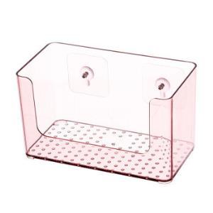 家佳乐 透明面膜收纳盒护肤品桌面整理化妆品盒浴室置物架 透明粉15元包邮