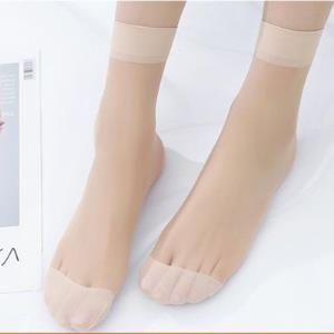 浪莎丝袜女薄款短夏季防勾丝超薄耐磨黑肉色袜子女透明隐形中筒袜 券后14.6元
