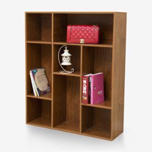 木以成居 书柜 三层八格柜储物柜收纳柜 樱桃木LY-4061 *3件 247元(合82.33元/件)