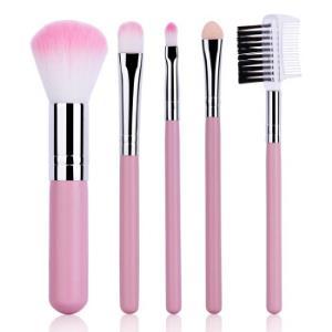 优家(UPLUS)初学者专业化妆刷5件套(颜色随机)(彩妆工具 腮红刷 眼影刷 唇刷 眼影棒) *4件32元(合8元/件)
