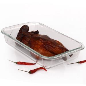 吉睿JR3095耐热玻璃长方烤盘1L*3件 93.6元(合31.2元/件)