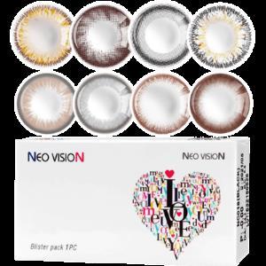NEO韩国混血美瞳小黑环年抛大小直径网红款隐形近视眼镜2片装TX 券后49元