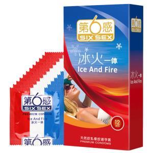 第六感冰火一体安全套12只 19元(满109减10)