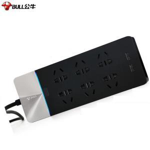 公牛GN-H406U 新国标公牛抗电涌USB插座 6位+2USB口199元