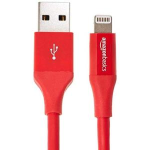 AmazonBasics 亚马逊倍思 苹果MFi认证 USB 2.0 A to Lightning接口高级数据线 适用于iPhone iPad iPod 红色49元