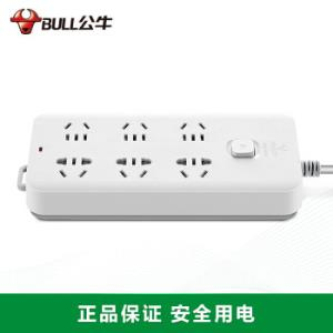 公牛(BULL) 插排插线板拖线板电源插座儿童保护新国标总控六位GN-B7060 1.8米106.6元
