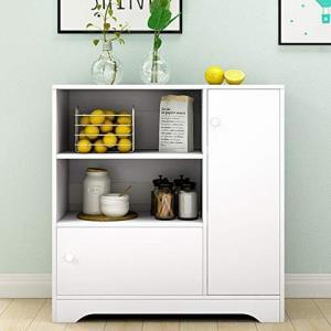 DC Life收纳柜沙发边柜厨房置物架多层置物柜书柜床头柜橱柜碗柜餐具柜(暖白色) (F款) 179元