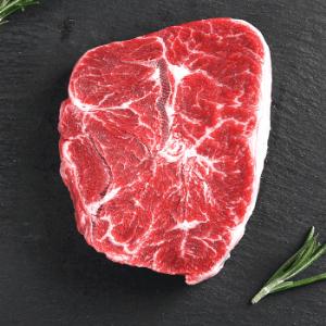 宾得利澳洲安格斯谷饲120天YG级整块厚切板腱原切牛肉牛排牛扒300g2片装 69.9元