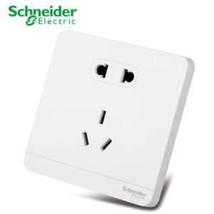 Schneider Electric 施耐德电气  绎尚白开关插座面板 墙壁五孔二三插 10A 五孔二三插 *10件200.5元(合20.05元/件)
