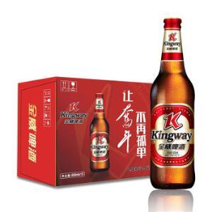 雪花旗下 金威啤酒(Kingway)11度老金威600ml瓶整箱12瓶 *4件 +凑单品105.8元(合26.45元/件)