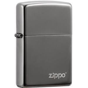 之宝(Zippo)打火机 黑冰商标 镀黑铬镭射150ZL 煤油防风火机 99元