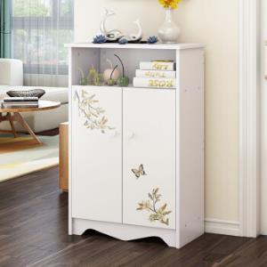 木以成居鞋柜简易简约现代门厅柜烤漆储物收纳玄关柜白色LY-305689.5元