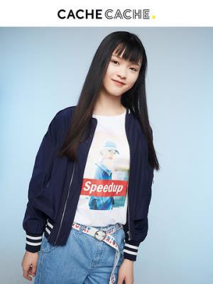 CacheCache春新款少女简约BF街头风棒球服经典潮流短款长袖外套潮99.9元