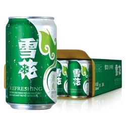 雪花啤酒(Snowbeer)8度清爽6连包 330ml*6听/组 *2件23.8元(合11.9元/件)