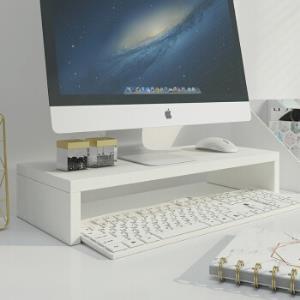 美达斯 显示器增高架 办公桌面支架底座收纳架电脑架子 白色12827 *5件99.5元(合19.9元/件)