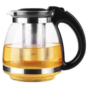 紫丁香 玻璃茶壶 耐热玻璃大容量花草茶壶 304不锈钢过滤内胆泡茶器易清洁茶具1.5L *7件159.3元(合22.76元/件)