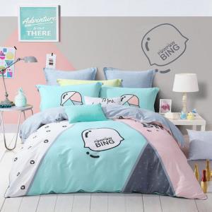 MERCURY水星家纺儿童床上四件套纯棉男孩时尚卡通被套床单解构 1.5米床 360元