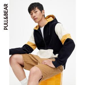 PULL&BEAR 2019早春新款连帽帅气风衣男夹克男外套 05710528 251元