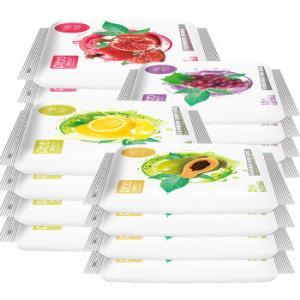 漂亮宝贝 10片*15包水果柔湿纸巾9.9元