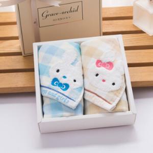 洁丽雅 小兔子儿童柔软亲肤棉面巾 2条装 *12件 116元(合9.67元/件)