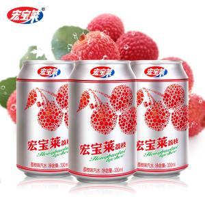 宏宝莱 荔枝味汽水 330ml*12罐 ¥19.9
