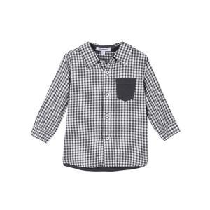 3 pommes 法国进口 深灰色格纹衬衫男童 (建议12个月-4岁)31.6元