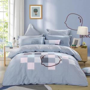 MERCURY水星家纺儿童床套四件套卡通风纯棉床上用品摩卡印象1.8米床+凑柔绒靠垫 +凑单品 402元