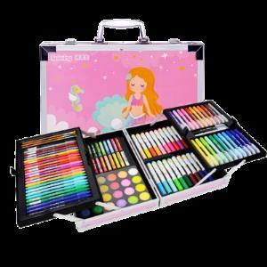 瑞莱茵水彩笔套装彩色笔幼儿园画画笔小学生72色颜色笔可水洗无毒水彩画笔蜡笔手绘学生用笔礼物儿童绘画套装  券后5.8元