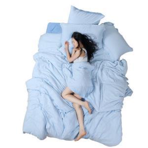 百丽丝家纺 水星出品 裸睡面料水洗工艺学生四件套床单被套 静妍 1.2米床 152元